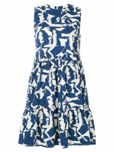 La Doublej sleeveless printed dress - White
