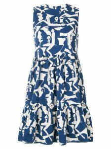 La Doublej sleeveless printed dress - White