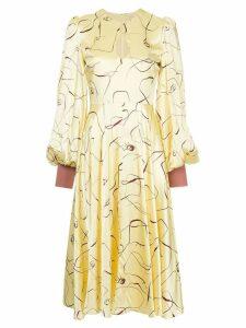 Roksanda Herona abstract print dress - Yellow