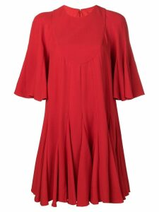Valentino pleated mini dress - Red