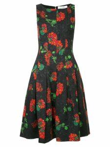 Oscar de la Renta Geranium cloqué dress - Black