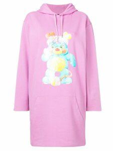 Jeremy Scott printed sweatshirt dress - Pink