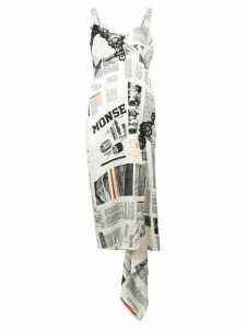 Monse printed slip dress - White