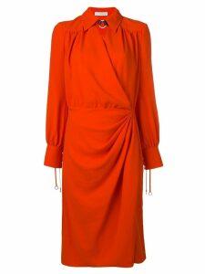 Altuzarra draped midi dress - Red