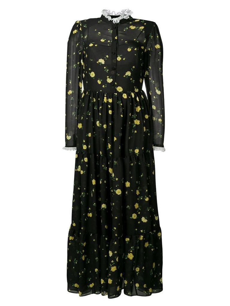Philosophy Di Lorenzo Serafini long floral print dress - Black