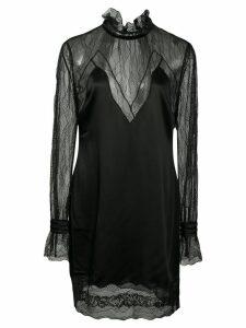 Jonathan Simkhai lingerie sateen mini dress - Black