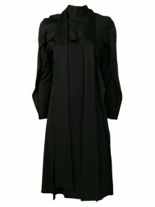 Koché panelled long sleeved dress - Black