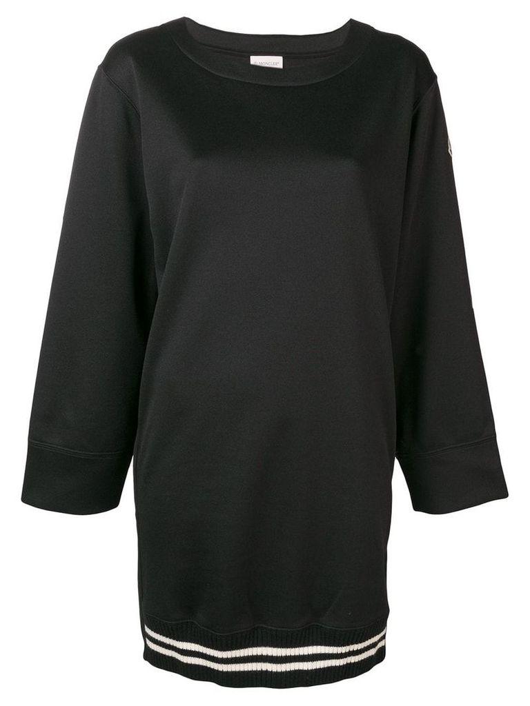 Moncler scuba sweatshirt dress - Black