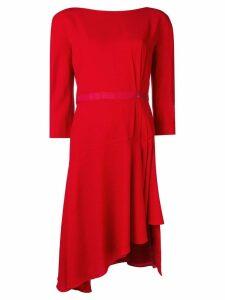 LANVIN asymmetrical midi dress - Red