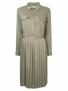 08Sircus pleated skirt shirt dress - Green
