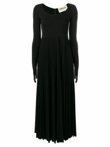 A.W.A.K.E. Mode gloved pleated dress - Black