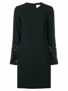 Victoria Victoria Beckham bead embroidered shift dress - Black