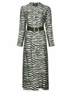 Taller Marmo zebra print dress - Metallic