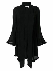 Chloé crepe tie waist handkerchief dress - Black