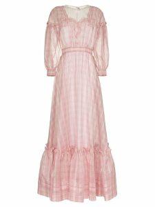 Calvin Klein 205W39nyc check print silk gown - Pink