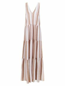 Adriana Degreas striped long dress - PINK