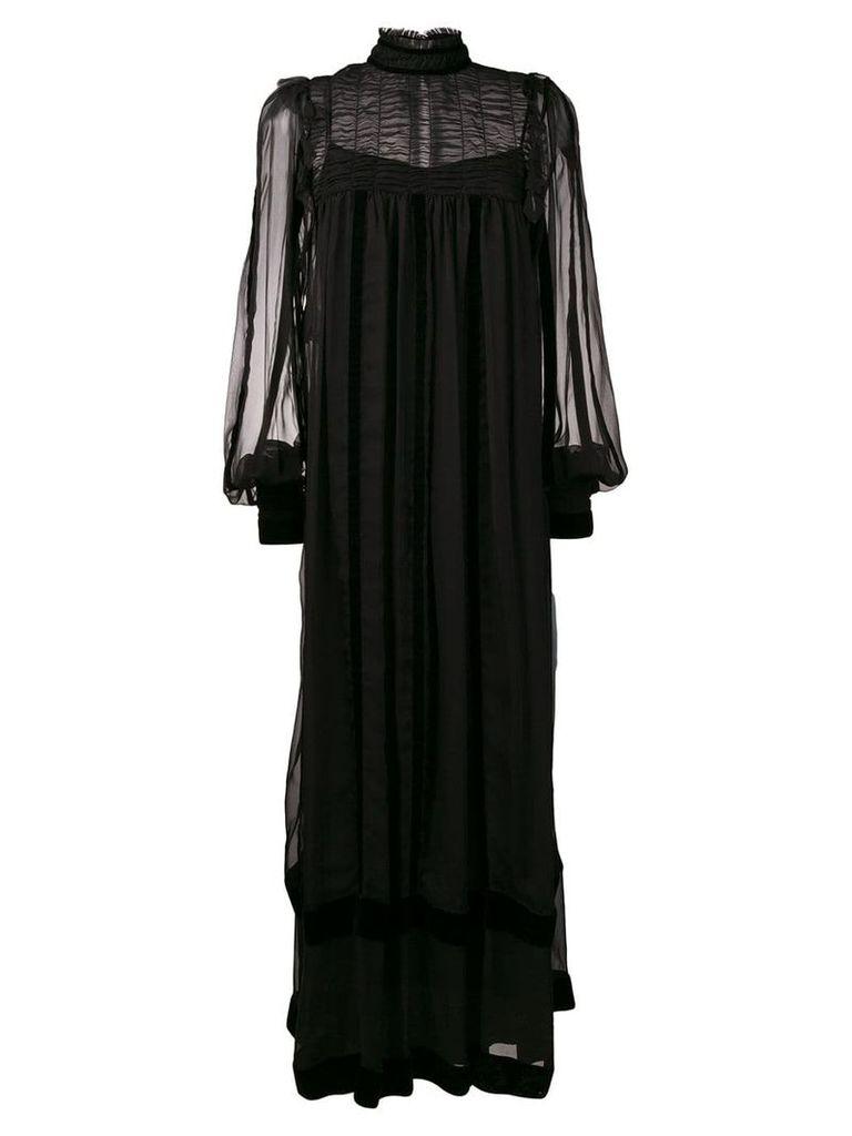 Alberta Ferretti sheer maxi dress - Black