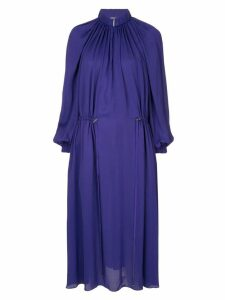 Tibi georgette gathered dress - Purple