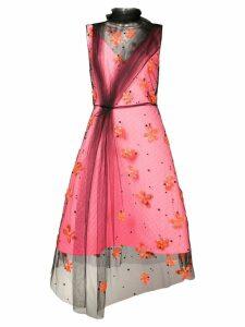 Prada embroidered tulle dress - Purple