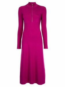 Sykes half zip knitted dress - Purple