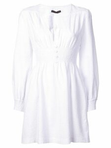 Alexa Chung smock short dress - White