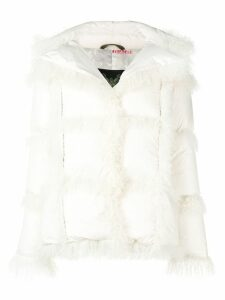 Mr & Mrs Italy hooded down jacket - White