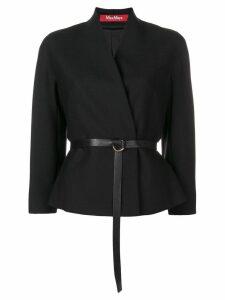 Y's asymmetric neckline playsuit - Black