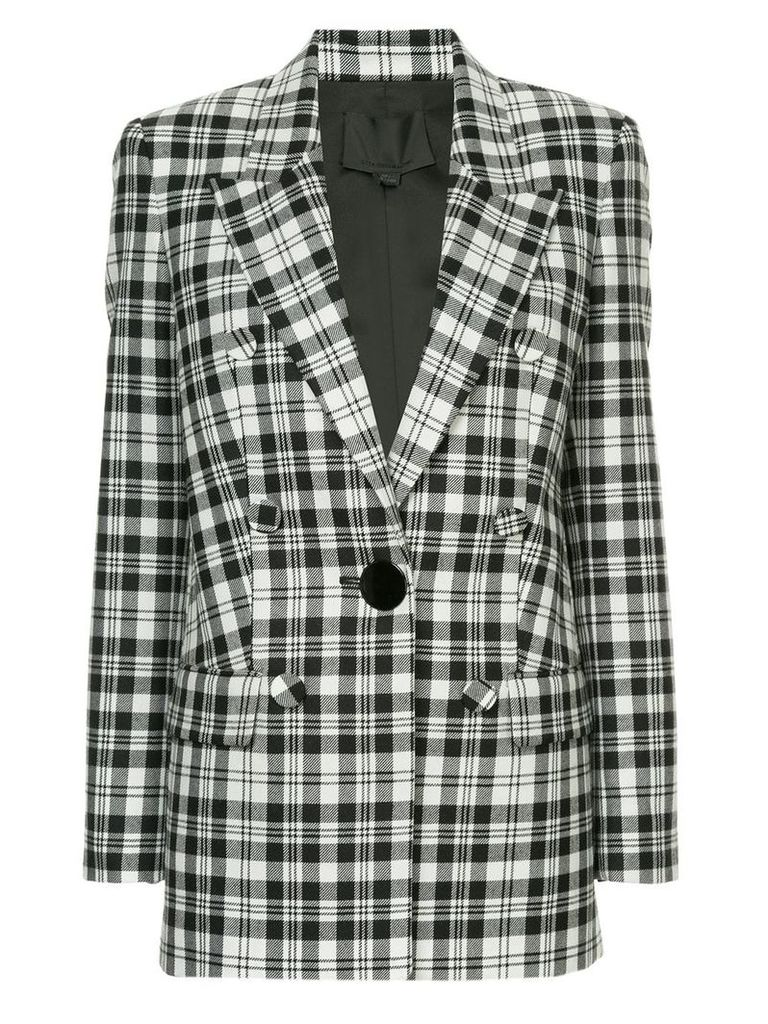 Alexander Wang single breasted plaid blazer - White