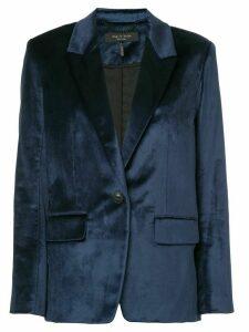 Rag & Bone Monty velvet blazer - Blue