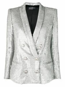 Balmain double breasted sequinned blazer - Grey