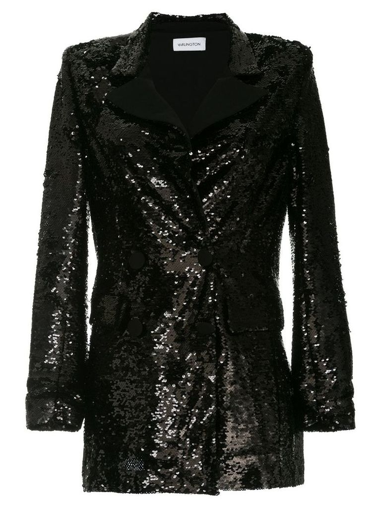 16Arlington sequinned blazer - Black