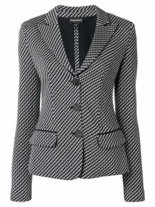 Emporio Armani geometric single-breasted blazer - Blue
