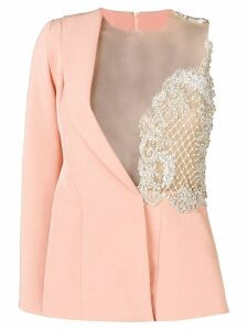 Loulou embroidered top blazer - Neutrals