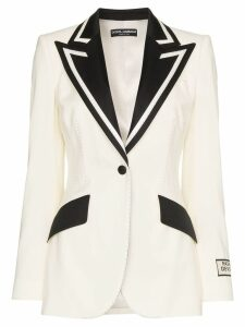 Dolce & Gabbana monochrome tux blazer - White