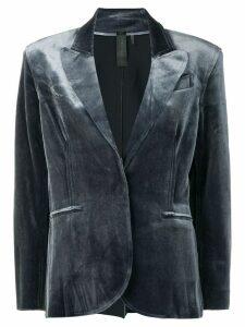 Norma Kamali velvet blazer - Grey