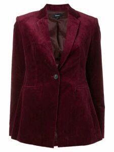 Theory classic velvet blazer - Red