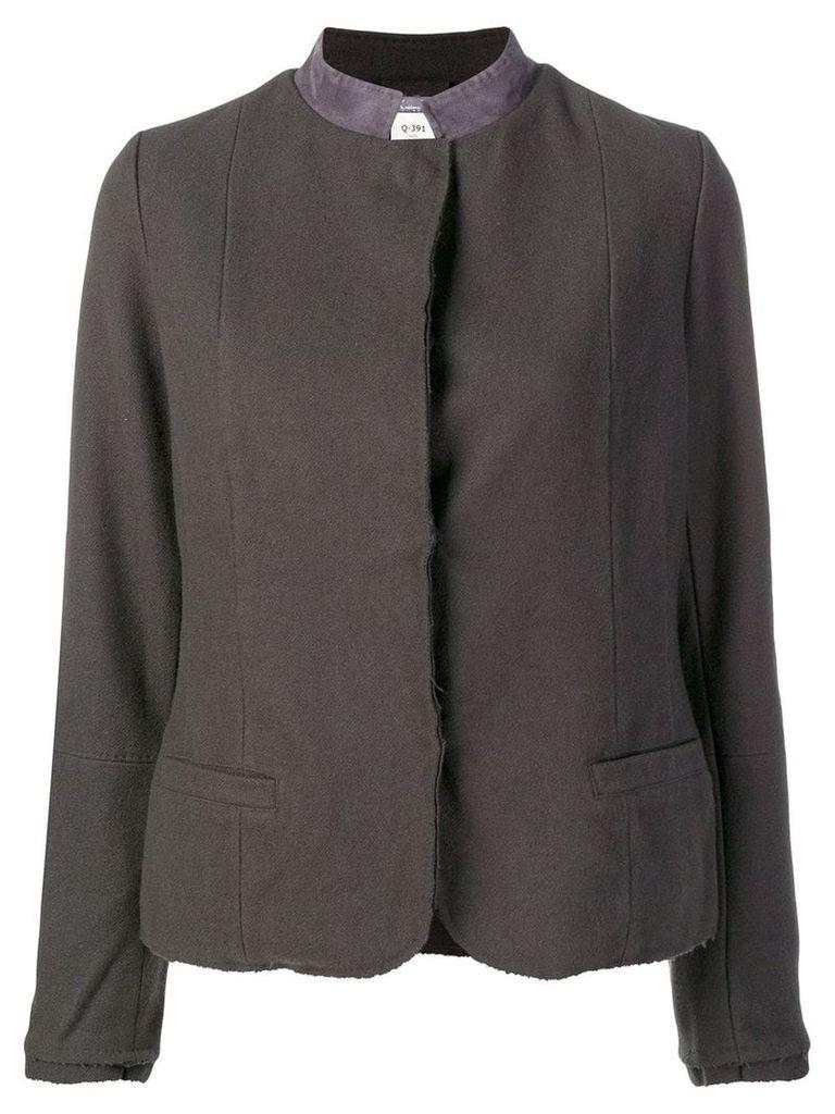Kristensen Du Nord contrast collar fitted jacket - Grey