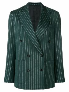 Golden Goose striped double-breasted blazer - Green