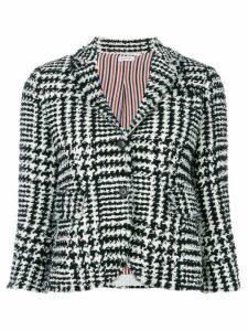 Thom Browne Prince of Wales Eyelash Sport Coat - Black