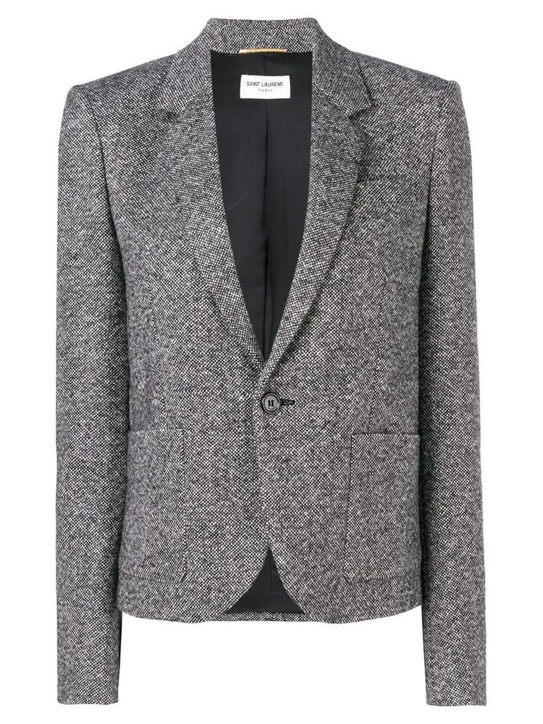 Saint Laurent fitted blazer - Black