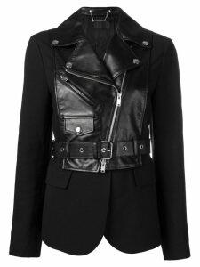 Sonia Rykiel short hybrid jacket - Black