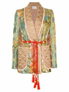 Peter Pilotto baroque quilted blazer - Metallic
