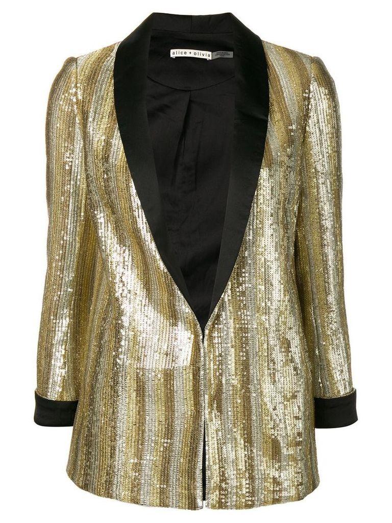 Alice+Olivia embellished fitted blazer - Gold