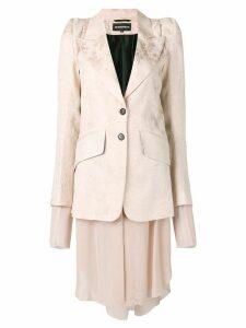 Ann Demeulemeester brocade layered blazer - Pink