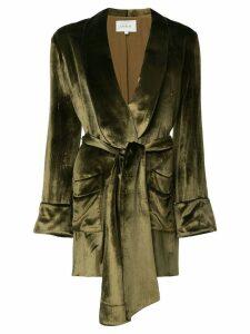 Layeur Barbara velvet blazer - Green
