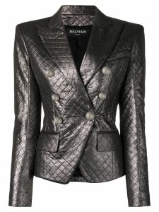Balmain quilted fitted blazer - Grey