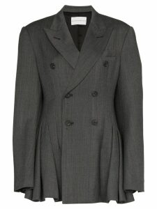 Matthew Adams Dolan pleated double-breasted blazer - Grey