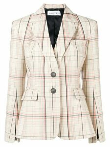 Carven checked fitted balzer - NEUTRALS