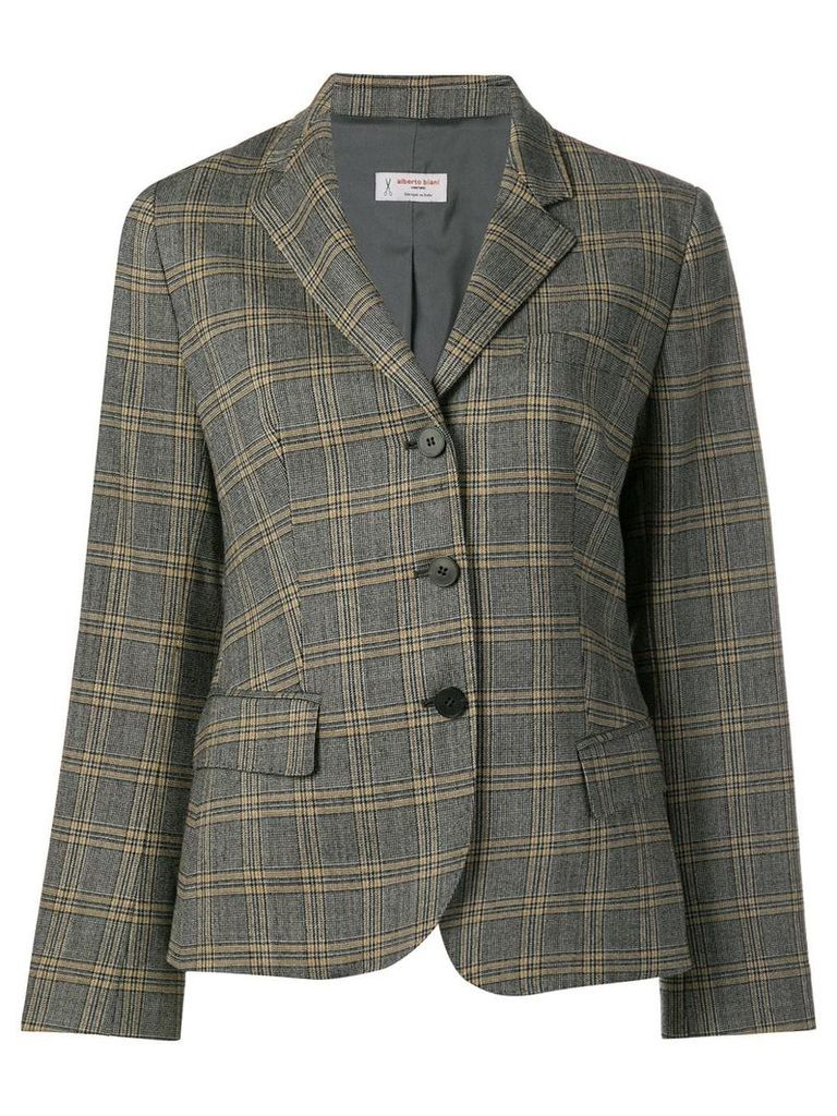 Alberto Biani checked tailored blazer - Grey