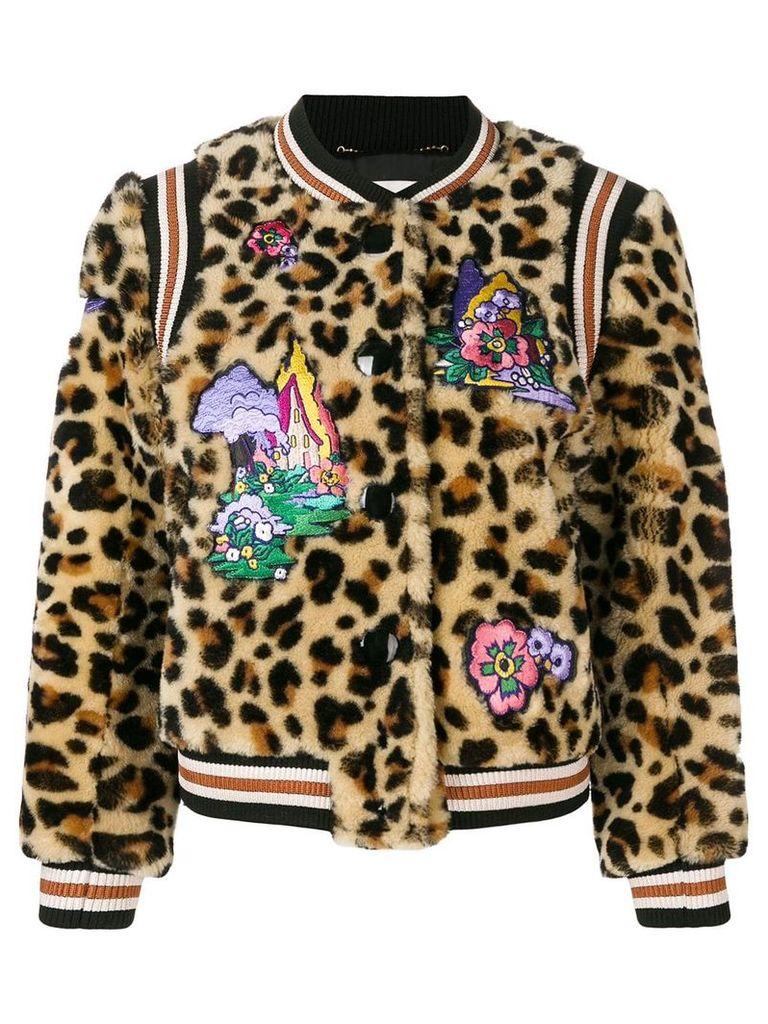 Coach leo teddy bomber jacket - Brown